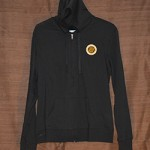 Ladies Hoodie Black Full Zip