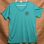 V-Neck Ladies Sport-Tek Tropical Blue-500