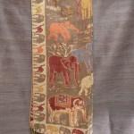 Brown Elephant Print Shawl