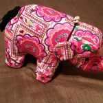 Hill Tribe Embroidered Elephant2