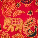 red-embroidrey-pattern